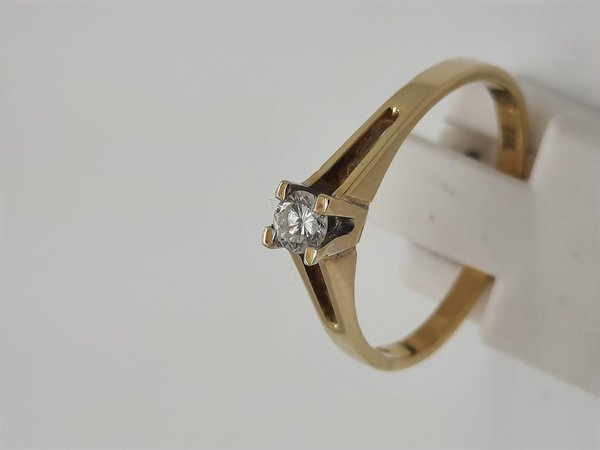 Diamantring / Brillantring 585/-Gold , Diamant 0,15ct, Gr. 57