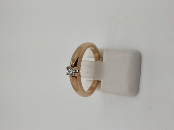 Diamantring / Brillantring 585/-Gold , Diamant 0,10ct, Gr. 50