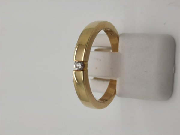 Diamantring / Brillantring 585/-Gold , Diamant 0,050ct lupenrein, Gr. 54